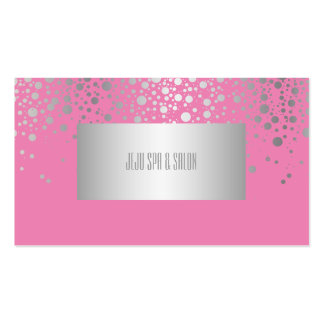 PixDezines DIYcolors/dazzled faux silver specks Pack Of Standard Business Cards