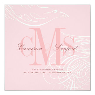 PixDezines doves tail/diy background color+fonts 13 Cm X 13 Cm Square Invitation Card