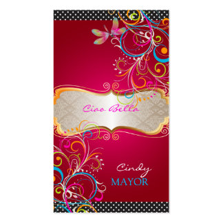 PixDezines dragonflies/ruby red Business Card Templates