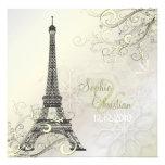 PixDezines Eiffel Tower + swirls Invites