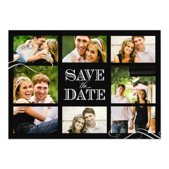 PixDezines engagement photos/save date Card