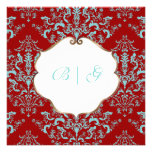 PixDezines Étienne Damask, background customizable Personalized Invitations