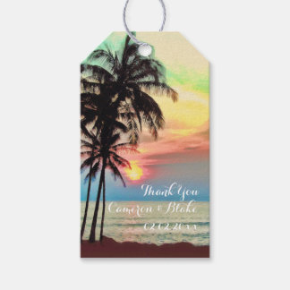 PixDezines fantasy hawaii/sunset/beach Gift Tags