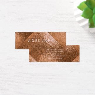 PixDezines Faux Copper Foil Tiles Mini Business Card