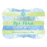 PixDezines Faux Foil Stripes Bris Milah 13 Cm X 18 Cm Invitation Card