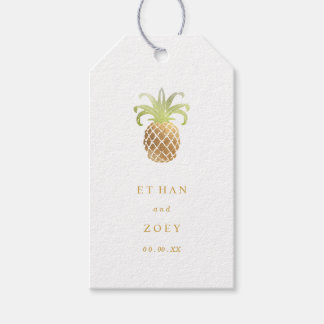 PixDezines Faux Gold Pineapples/DIY color Gift Tags