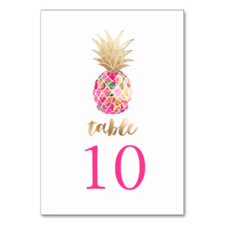 PixDezines Faux Gold Pineapples/Table Cards