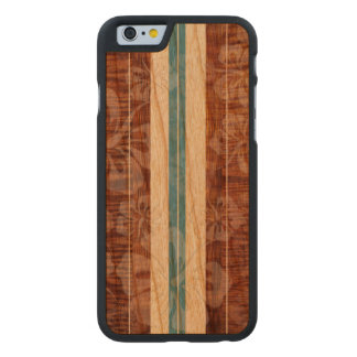 PixDezines Faux Koa/Surfboard/Hibiscus Carved Cherry iPhone 6 Case