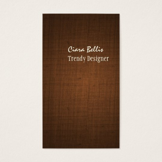 PixDezines faux linen espresso brown Business Card