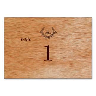 PixDezines faux mahogany+acorns Table Card