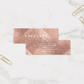 PixDezines Faux Rose Gold Foil Tiles Mini Business Card