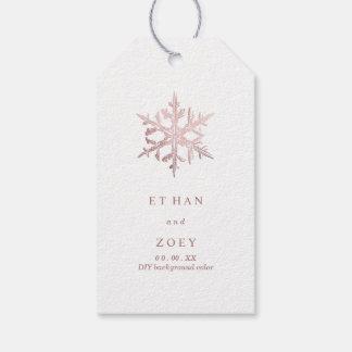 PixDezines Faux Rose Gold Snowflakes/ThankYou