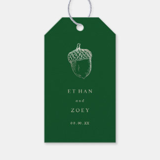PixDezines Faux Silver Acorn/DIY Background Color Gift Tags