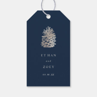 PixDezines faux silver pinecone/thankyou/DIY color Gift Tags
