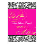 PixDezines Fidora Damask, Bat Mitzvah/ DIY colour 13 Cm X 18 Cm Invitation Card