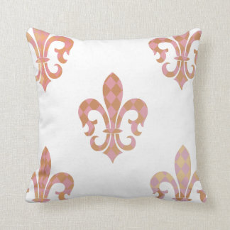 PixDezines fleur de lis/pink/gold/DIYbackground Cushion