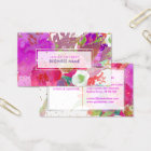 PixDezines Floral Watercolor/Pansies/Gold Specks Business Card