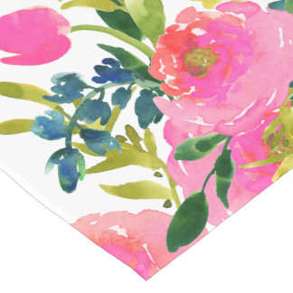 PixDezines floral/watercolor/ranunculus Short Table Runner