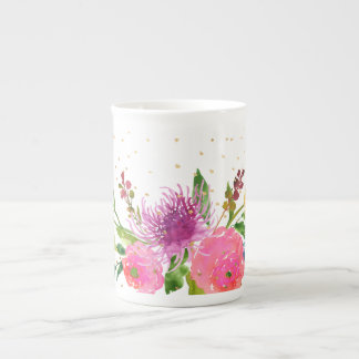 PixDezines floral/watercolor/ranunculus Tea Cup