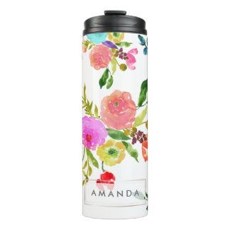 PixDezines Floral/Watercolor/Ranunculus Thermal Tumbler