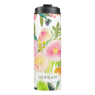 PixDezines Floral/Watercolor/Spring Bouquet Thermal Tumbler