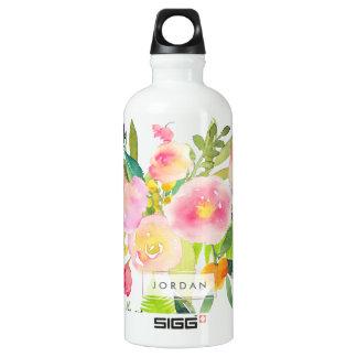 PixDezines Floral Watercolor/Spring Bouquet Water Bottle