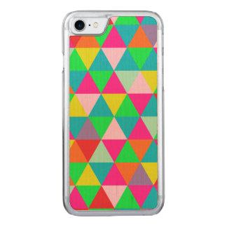 PixDezines geometric/green/orange/teal Carved iPhone 7 Case