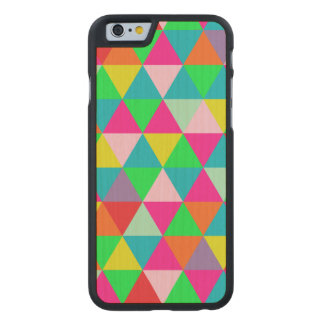 PixDezines geometric/green/orange/teal Carved® Maple iPhone 6 Case