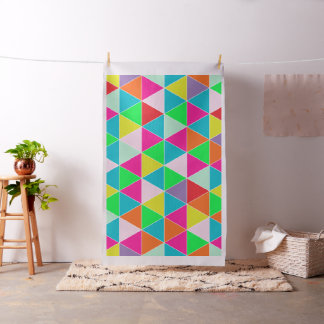 PixDezines geometric/neon colors Fabric