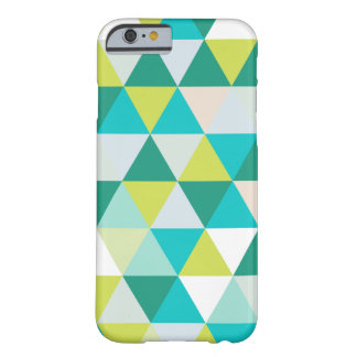 PixDezines geometric teal green Barely There iPhone 6 Case
