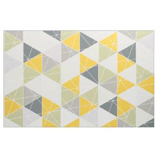 PixDezines geometric/yellow/grey Fabric