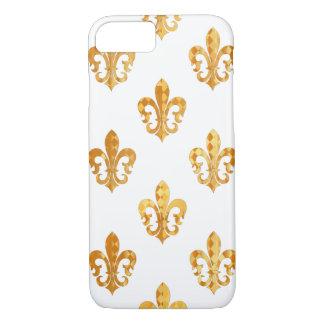 PixDezines gold fleur de lis/DIY background iPhone 7 Case