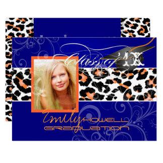 PixDezines  Graduation Orange Leopard/DIY color Card