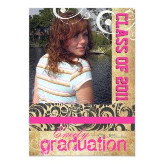 PixDezines graduation, vintage bellisimoi Damask Card