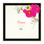 PixDezines Green+Pink Dahlia/DIY font+background Personalized Announcement