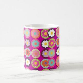 PixDezines groovy daisies/diy background color Basic White Mug