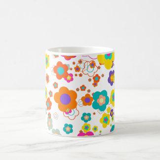 PixDezines groovy daisies/diy background color Classic White Coffee Mug