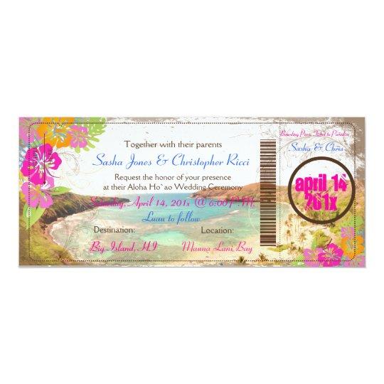PixDezines hanauma bay/vintage boarding pass Card