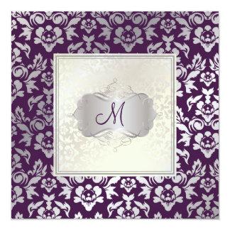PixDezines Haute Couture Damask 13 Cm X 13 Cm Square Invitation Card