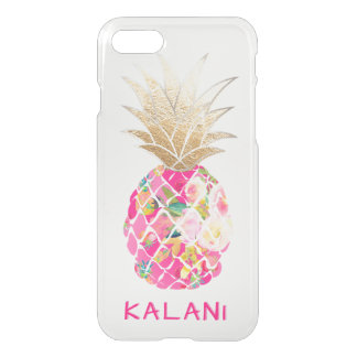 PixDezines Hawaii/Aloha Pineapple/Pink iPhone 7 Case