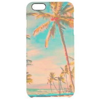 PixDezines Hawaii/Vintage/Beach/Teal Clear iPhone 6 Plus Case