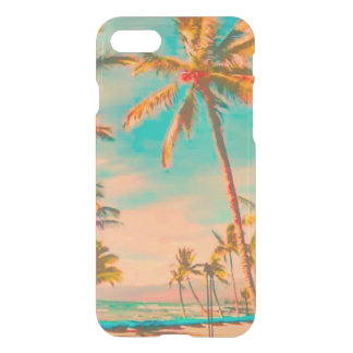 PixDezines Hawaii/Vintage/Beach/Teal iPhone 7 Case