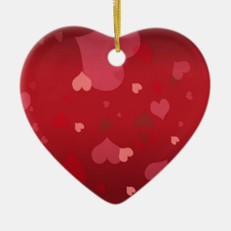 PixDezines Hearts Ceramic Heart Decoration