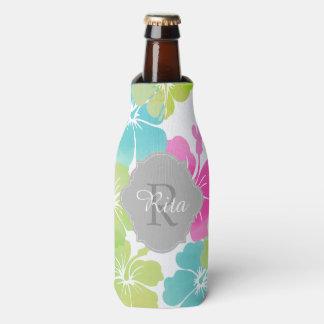 PixDezines hibiscus/DIY background Bottle Cooler