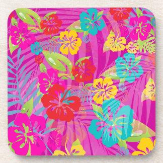 PixDezines hibiscus/DIY background color Beverage Coasters