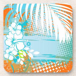 PixDezines hibiscus/DIY background color Coasters