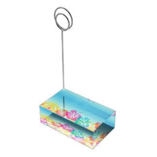 PixDezines hibiscus lei/beach Table Card Holders