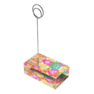 PixDezines hibiscus leis/beach Table Card Holder