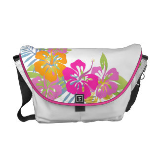 PixDezines hibiscus leis/diy background color Messenger Bags