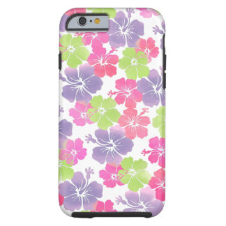 PixDezines hibiscus/watercolor/diy background Tough iPhone 6 Case